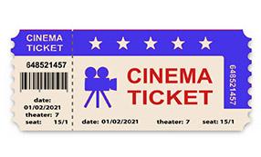 Eintrittskarte Kino